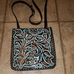 Patricia Nash tooled leather crossbody bag